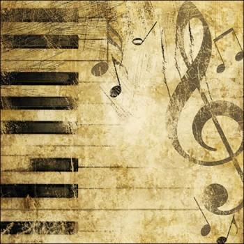 Χαρτοπετσέτα για Decoupage, Piano / 13305765