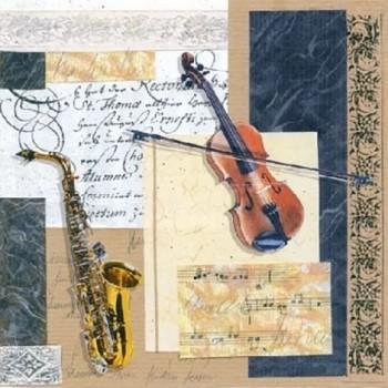 Χαρτοπετσέτα για Decoupage, Music 25x25cm  / 12507430