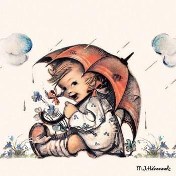 Χαρτοπετσέτα για Decoupage, Umbrella Girl / 13310290