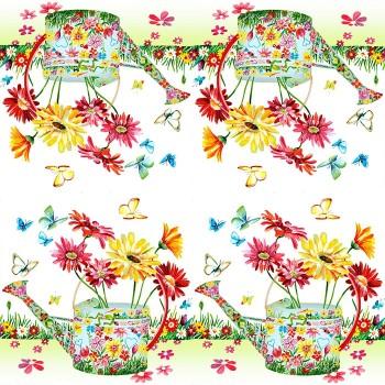 Χαρτοπετσέτα για Decoupage, Flowery Can / 211555