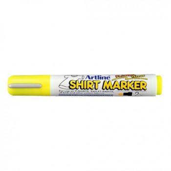 Μαρκαδόροι Υφάσματος Artline T-Shirt marker EK-2 (2mm, Φθορίζον Κίτρινο)
