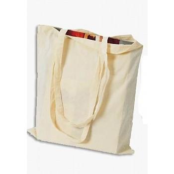 Βαμβακερή Λευκή Τσάντα (38 x 42cm) με μεγάλο χερούλι 70cm