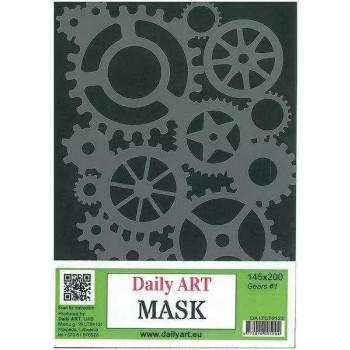 Στένσιλ (Stencil) DailyArt 14x20cm, Mask Gears I / DA17ST0123