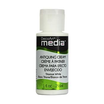 DecoArt Media Antiquing Creams - Titanium White