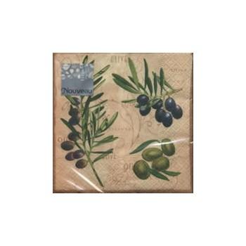 Χαρτοπετσέτα για Decoupage, Olivio (brown) 25x25cm / NV-74641