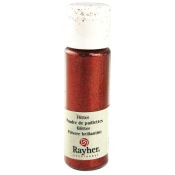 Glitter σε σκόνη (PET Extra Fine Glitter) 20ml - Light Red