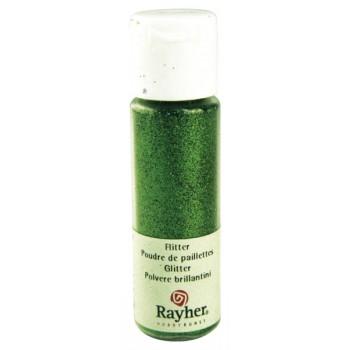 Glitter σε σκόνη (PET Extra Fine Glitter) 20ml - Leaf Green