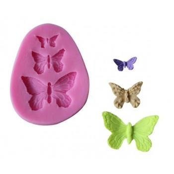 Καλούπι Σιλικόνης 7.2 x 5.7 x 0.8cm, 3 Πεταλούδες