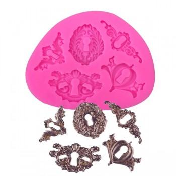 Καλούπι Σιλικόνης 10 x 7.5 x 1cm, 3D Keyholes set