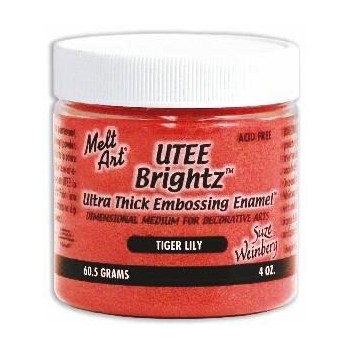 UTEE Brightz Embossing Powder 4 oz. (Tiger Lily)