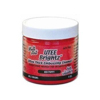 UTEE Brightz Embossing Powder 4 oz. (Red Poppy)