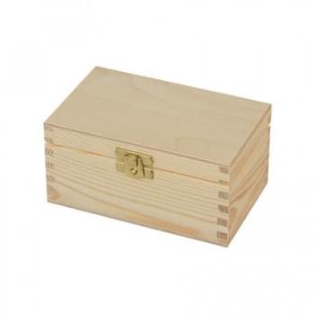 Ξύλινο Κουτί Με Κούμπωμα, 15x9,5x7,5cm