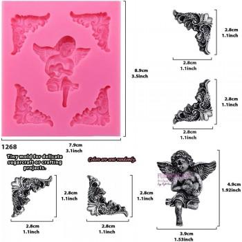 Καλούπι Σιλικόνης 9x8x1,4cm, Αγγελάκι & Γωνίες