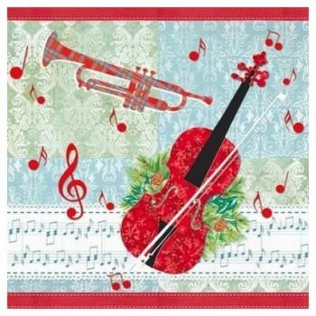 Χριστουγιεννιάτικη Χαρτοπετσέτα για Decoupage, Music Time / 33304600