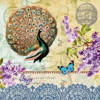 Χαρτοπετσέτα για Decoupage, Peacock / 13308310