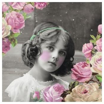 Χαρτοπετσέτα για Decoupage, Flower Girl / 13309250
