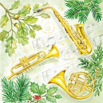 Χριστουγιεννιάτικη Χαρτοπετσέτα για Decoupage, Christmas Music / 33304295