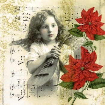 Χριστουγιεννιάτικη Χαρτοπετσέτα για Decoupage, Heavenly Music / 611535