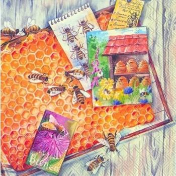 Χαρτοπετσέτα για Decoupage, Homemade Honey / L-569700