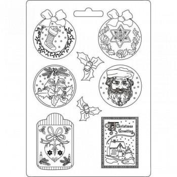 Καλούπι Soft Maxi Mould A4 Stamperia, Classic Christmas / K3PTA467