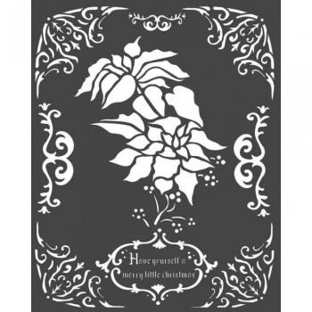 Mix Media Χονδρό Στένσιλ (Stencil) Stamperia 20x25cm, Poinsettia / KSTD053