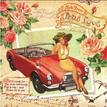 Χαρτοπετσέτα για Decoupage, True Love / LU371260