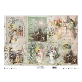 Χριστουγεννιάτικο Ριζόχαρτο Artistic Design για Decoupage 30x40cm, Christmas Landscapes / MR008