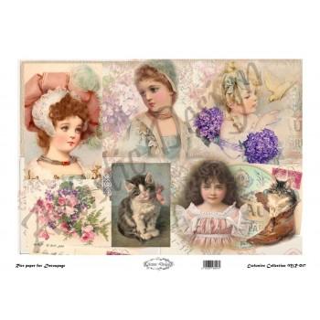 Ριζόχαρτο Artistic Design για Decoupage 30x40cm, Vintage Little Girls / MR017