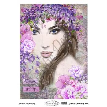 Ριζόχαρτο Artistic Design για Decoupage 30x40cm, Portrait (Πρόσωπο Γυναίκας)  / MR019