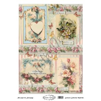 Ριζόχαρτο Artistic Design για Decoupage 30x40cm, Vintage themes / MR023