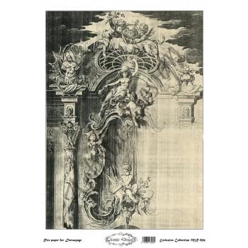 Ριζόχαρτο Artistic Design για Decoupage 30x40cm, Vintage frame / MR026