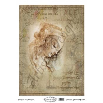 Ριζόχαρτο Artistic Design για Decoupage 30x40cm, Leonardo da Vinci / MR031