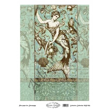 Ριζόχαρτο Artistic Design για Decoupage 30x40cm, Vintage Mermaid / MR032