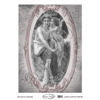 Ριζόχαρτο Artistic Design για Decoupage 30x40cm, Vintage Angel Frame / MR036