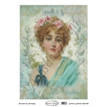Ριζόχαρτο Artistic Design για Decoupage 30x40cm, Vintage Lady / MR038