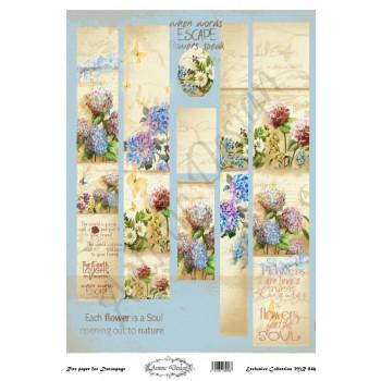 Ριζόχαρτο Artistic Design για Decoupage 30x40cm, Λαμπάδα floral / MR946