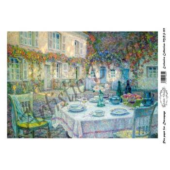 Ριζόχαρτο Artistic Design για Decoupage A4, Table (Τοπίο) / MRS355