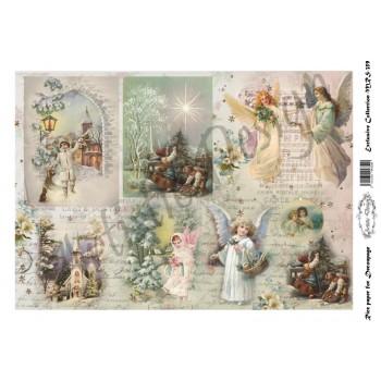 Χριστουγεννιάτικο Ριζόχαρτο Artistic Design για Decoupage Α4, Christmas Landscapes / MRS359
