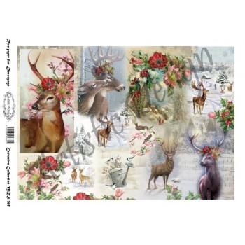Ριζόχαρτο Artistic Design για Decoupage A4, Deers / MRS365