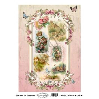Ριζόχαρτο Artistic Design για Decoupage A4, Vintage Valentine / MRS367
