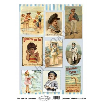 Ριζόχαρτο Artistic Design για Decoupage A4, Vintage Sailor Kids / MRS368