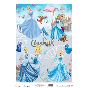 Ριζόχαρτο NCF για Decoupage 30x40cm, Cinderella / NCF557