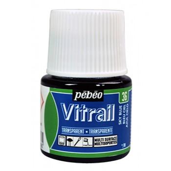 Pebeo Vitrail Trasparent Colour (Διάφανo σμάλτo διαλύτη) 45ml, Sky Blue
