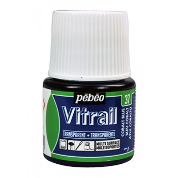 Pebeo Vitrail Trasparent Colour (Διάφανo σμάλτo διαλύτη) 45ml, Cobalt Blue