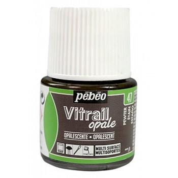 Pebeo Vitrail Opaque Colour (Ημιδιαφανές σμάλτo διαλύτη) 45ml), Pewter