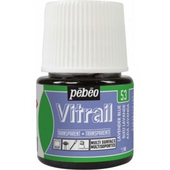 Pebeo Vitrail Trasparent Colour (Διάφανo σμάλτo διαλύτη) 45ml, Lavander Blue