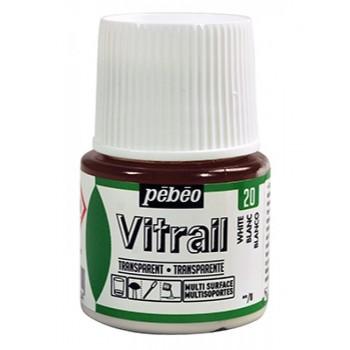 Vitrail Trasparent Colour (Διάφανo σμάλτo διαλύτη) 45ml, White