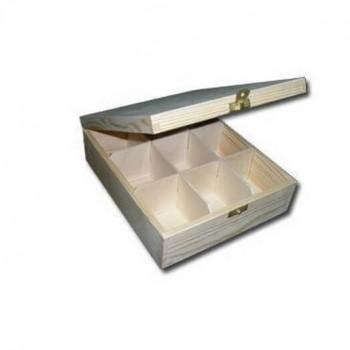 Ξύλινο Κουτί με 9 θήκες, 24,7*22*7,5cm