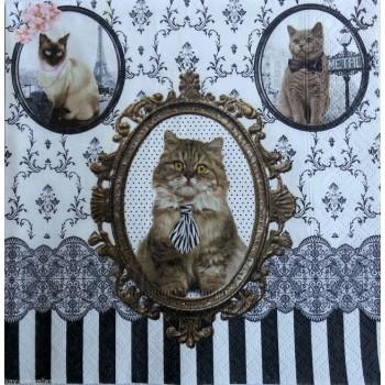Χαρτοπετσέτα για Decoupage, Cats / 414-CATS