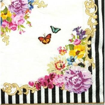 Χαρτοπετσέτα για Decoupage, Flowers Glamour / 414-GLUR